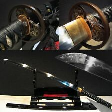 Clay Tempered T10 Folded Steel Japanese Samurai Sword Katana Sharp Hand Forge#20
