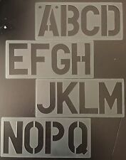 ALPHABETS A-Z,LETTERING STENCIL UPPER CASE SIGN WRITING NUMBERS 0-9,10 Pcs 100mm