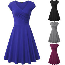 50S 60S ROCKABILLY DRESS Vintage Style Swing Pinup Retro Housewife Party Dress