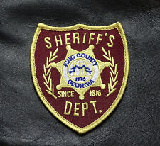 The Walking Dead King County Georgia Sheriff's Department Embroidered Patch