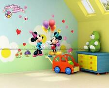 DISNEY Mickey Minnie Mouse Palloncini Festa ADESIVI MURALI ARREDAMENTO stanza per bambini