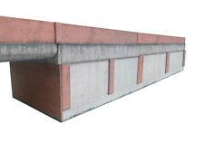 CONCRETE & BRICK RETAINING WALL OO GAUGE CARD KIT 1:76 SCALE FOR MODEL RAILWAY