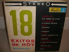 Los Diplomaticos - 18 Exitos De Hoy - Rare LP in Good Conditions L5