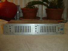 Urei 535, Dual Graphic Equalizer, 10 Band, Eq, Vintage Rack, As Is
