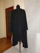 DEERBERG BY OSKA STRETCH JERSEY LAGENLOOK A-LINE ZIPPED HOODED SWEAT DRESS-XL