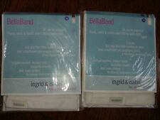 2-PACK Ingrid & Isabel Bella Band Everyday Maternity Pregnancy White SIZE ONE