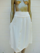 AMERICAN APPAREL FULL Circle YOKE BOHO straight Dress SKIRT PERFECT FOR SUMMER S