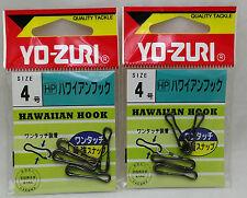2 Packs Yo-zuri Hawaiian Hook Fishing Clip 37kg Size 4 J663