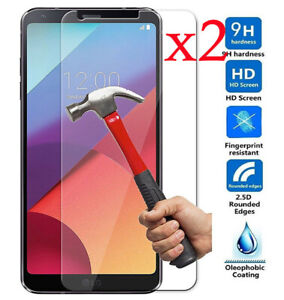 For LG G4 G5 6 G7 Q6 Q7 Q8 Clear Tempered Glass Screen Protector Protection 2pcs