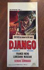 LOCANDINA,S11 ,ITALIAN WESTERN DJANGO,FRANCO NERO,SERGIO CORBUCCI  1 ediz. 1966