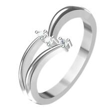 Ring 14K White Gold Finish Round Cut 0.60Ct Diamond Simple Engagement