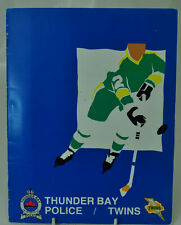 Vintage Thunder Bay Police/Twins Sports Cards Collectors Book 1984 COMPLETE