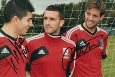 Middlesbrough mano firmado Emmanuel Ledesma y Jonathan Woodgate 6X4 foto.