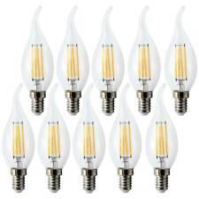 10x DEL Filament rafale bougie 4 W = 40 W e14 Mat Rétro Ampoule Blanc Chaud 2700k