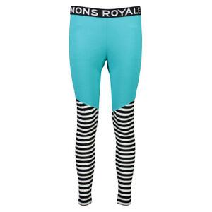 Mons Royale Women's Christy Leggings   Blue Stipes   FUN!   100027
