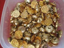 6  Metallknöpfe goldfarbig 14 mm maritim