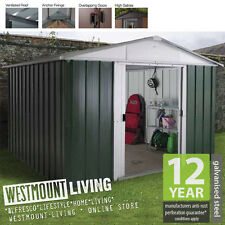 NEW 6x4 6x4FT 6 x 4 FT QUALITY METAL STEEL GARDEN SHED *FREE ANCHOR KIT* TIN