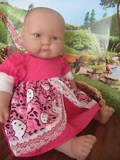 "doll clothes HELLO KITTY 18-20"" dress berenguer/corelle"