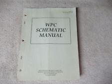 Wpc Schematic 16-9473-1 Williams Original Pinball Owners Manual