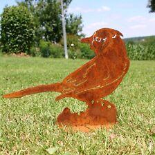 Blue Jay Blauhäher (Vogel) Edelrost mit Platte Gartendeko Metall Rost