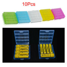 10Pcs Plastic Battery Storage Case Box Cover for AA AAA Rechargeable Battery