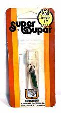 Luhr-Jensen Vintage Super Duper Chrome / Green Size 500, 1 inch long