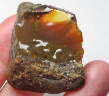 74.8Ct Ethiopian Black Chocolate Opal Facet Rough Clarity Enhanced YQO4391