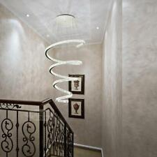 Luxury LED Crystal Ceiling Light Stair Chandelier Lighting Dimmable Pendant Lamp