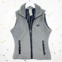 Patagonia Vest Womens Size Small Gray Los Gatos Fuzzy Fleece Reversible Sherpa