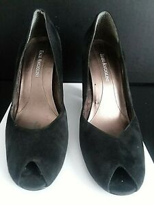 Womens Shoes - Pumps - Black Suede - Enzo Angiolini - Size 7.5