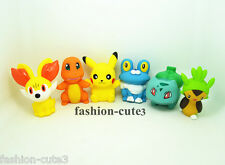 Set of 6 pcs New Pokemon Pikachu Charmander Bulbasaur Froakie PVC Action Figures