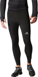 adidas Sequencials ClimaCool Mens Long Running Tights - Black
