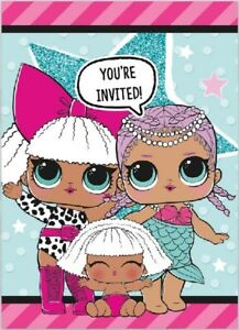 LOL Surprise Invitations Pink Baby Design Happy Birthday Party Invites 4-30 Pack