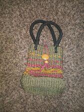 Vintage Satchel Bag Woven Natural Jute Material Purse