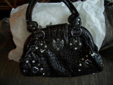 Faux Leather Outer Croc Print LYDC Handbags