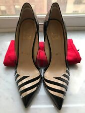 aabea493063d Christian Louboutin BRAND NEW pivichic pvc and black patent leather size  37.5