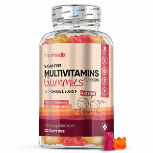 Kids Multivitamins Chewable 120 Gummies for Immune Booster, Skin, Joints & Bones