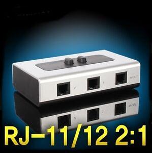 2:1 Telephone line selector RJ-11/12 Switch Phone Line RJ-11/12 selector