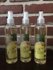 Bath & Body Works Fresh Pineapple Body Splash Rare Retired 8 oz 3 Piece Set