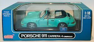 Anson Porsche 911 Carrera 4 Cabriolet Diecast model 1:18 Scale
