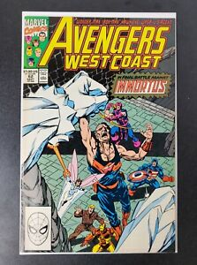 Avengers West Coast #62 (Marvel 1990) 1st app Time-Keepers