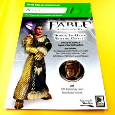 FABLE ANNIVERSARY SCYTHE OUTFIT AND HELMET XBOX 360 DLC ADD-ON GAME CONTENT # 52