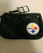 Pittsburgh steelers women's wristlet hand bag with strap