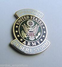 United States Army Operation Desert Storm Veteran Lapel Pin Badge 1 inch