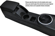 BLACK STITCH ARMREST SKIN COVER & GEAR GAITER COVER FITS HYUNDAI COUPE 02-09