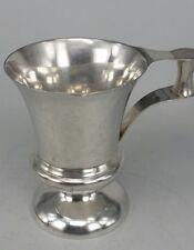 1912 silver tankard campana shape unusual crafts type handle