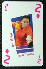 1 x playing card London 2012 Olympic Legends Wang Nan Table tennis 2D