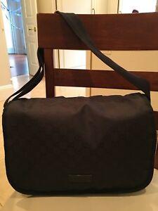 Authentic Gucci Diaper Bag - Black Monogram Logo