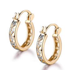 NEW 18k Silver & Gold Filled Hollow Style Women Lady Jewelry Hoop Earrings Studs