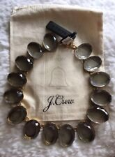 J. Crew Jewelry Oversize Gem Statement Necklace in Carbon/ Gold NWT! $68!!!